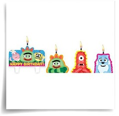 Yo Gabba Cake Candles