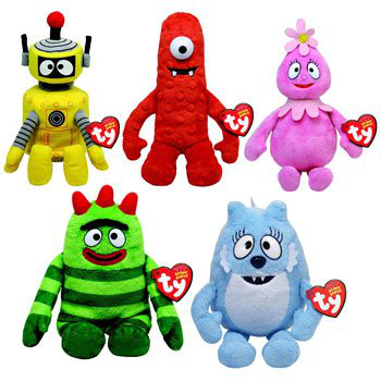 Beanie Baby Set Of 5 Yo Gabba Gabba Plush